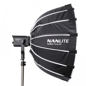 NANLITE SET: LED Studioleuchte FORZA 60 mit Parabol-Softbox 60 cm