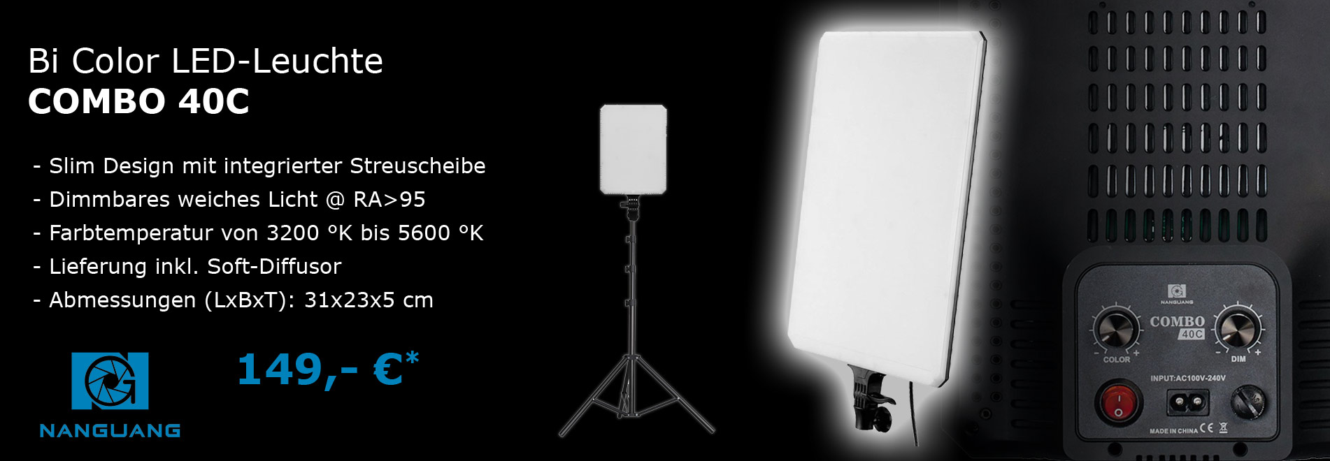 NANGUANG LED Fotostudio-Lampe